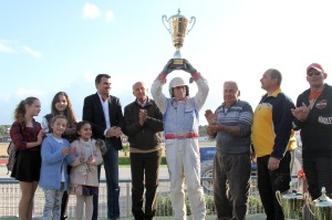 Noel Baldacchino celebrating the success with Quito De Neret (Photo In-Nazzjon - Media.Link Communications)